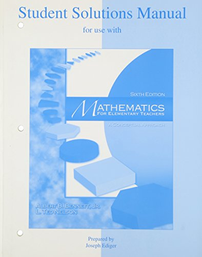 Mathematics for Elementary Teachers 6th 2004 edition cover