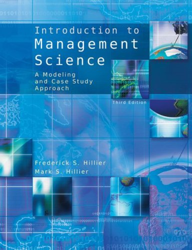 Introduction to Management Science with Student CD  3rd 2008 edition cover