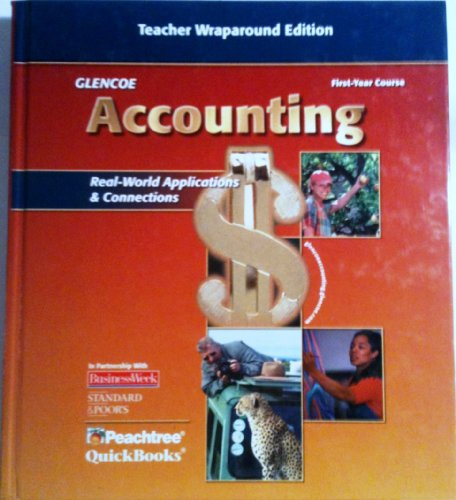 Glencoe Accounting: 1st Year Course Teacher Wraparound Edition N/A 9780078460975 Front Cover