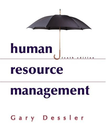 Human Resource Management  10th 2005 edition cover