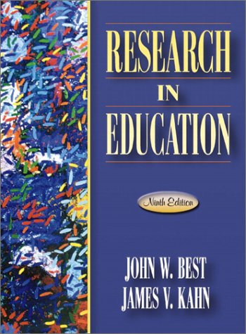 Research in Education  9th 2003 9780205349975 Front Cover