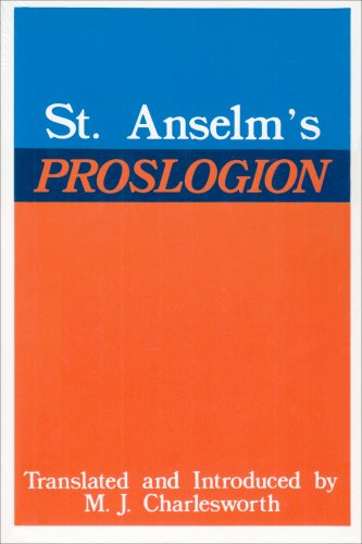 St. Anselm's Proslogion   1979 (Reprint) edition cover