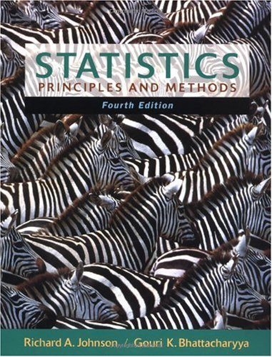 Statistics Principles and Methods 4th 2001 (Revised) 9780471388975 Front Cover