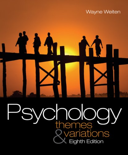 Psychology Themes and Variations 8th 2010 9780495601975 Front Cover