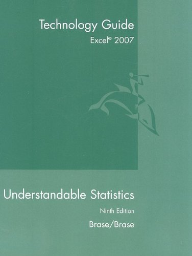 Guide for Understandable Statistics  9th 2009 9780547212975 Front Cover