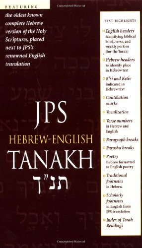 JPS Hebrew-English Tanakh   2000 (Student Manual, Study Guide, etc.) edition cover