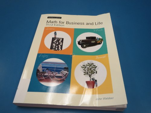 Math for Business and Life 3rd 2006 edition cover
