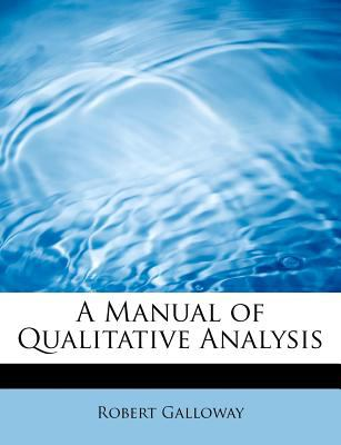 Manual of Qualitative Analysis  N/A 9781113814975 Front Cover