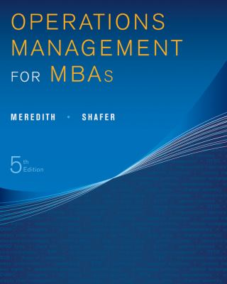Operations Management for MBAs:   2012 edition cover
