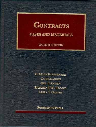 Cases and Materials on Contracts:   2013 edition cover