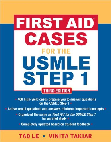 First Aid Cases for the USMLE Step 1  3rd 2012 edition cover