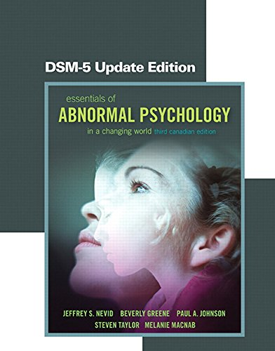 Essentials of Abnormal Psychology  3rd 2015 (Revised) 9780133436976 Front Cover
