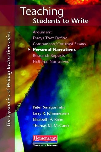 Teaching Students to Write Personal Narratives   2012 edition cover