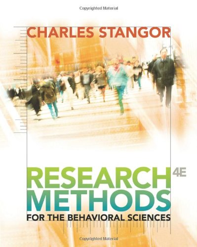 Research Methods for the Behavioral Sciences  4th 2011 edition cover