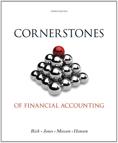 Cornerstones of Financial Accounting  3rd 2014 edition cover