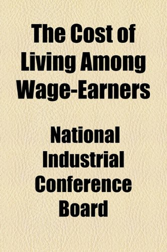Cost of Living among Wage-Earners  2010 edition cover