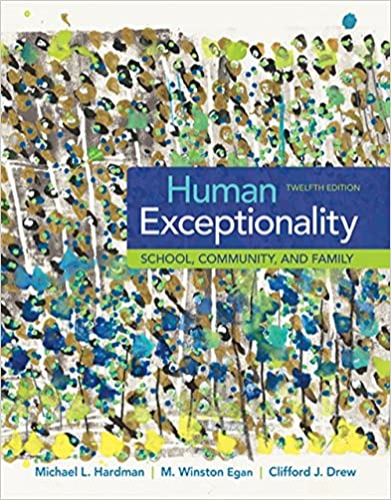 Human Exceptionality: School, Community, and Family  2016 9781305500976 Front Cover