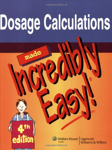 Dosage Calculations  4th 2010 (Revised) edition cover