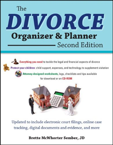 The Divorce Organizer and Planner:   2013 edition cover