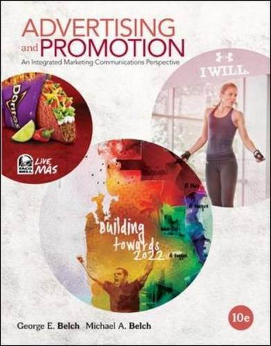 Advertising and Promotion An Integrated Marketing Communications Perspective 10th 2015 9780078028977 Front Cover