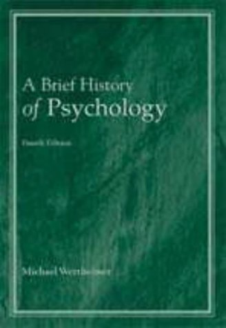 Brief History of Psychology 4th 2000 (Revised) edition cover
