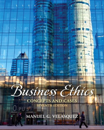 Business Ethics Concepts and Cases 7th 2012 9780205176977 Front Cover