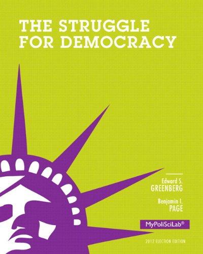 Struggle for Democracy: 2012 Election Edition, Books a La Carte Edition  2012 edition cover