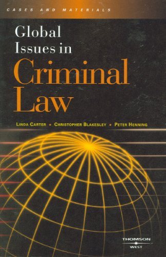 Global Issues in Criminal Law   2007 edition cover