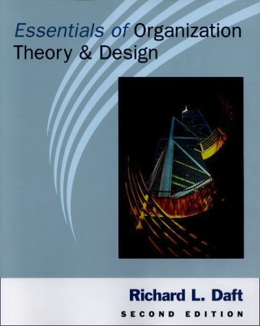 Essentials of Organization Theory and Design 2nd 2001 edition cover
