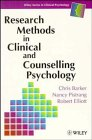 Research Methods in Clinical and Counselling Psychology  1st 1994 9780471962977 Front Cover