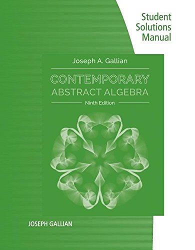 Contemporary Abstract Algebra:   2016 9781305657977 Front Cover