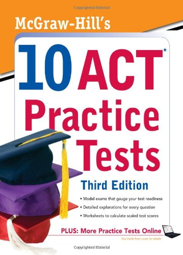 10 ACT Practice Tests  3rd 2010 edition cover