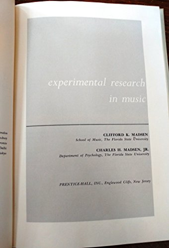 Experimental Research in Music  10th 2012 edition cover