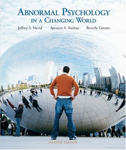 Abnormal Psychology in a Changing World  7th 2008 edition cover