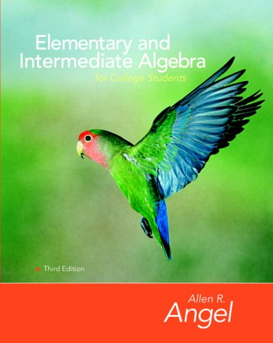 Elementary and Intermediate Algebra for College Students + Student Study Pack:  3rd 2007 9780135131978 Front Cover
