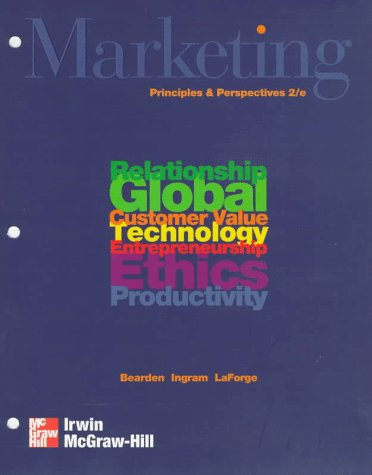 Marketing Principles and Perspectives Loose Leaf 2nd 1998 9780256218978 Front Cover
