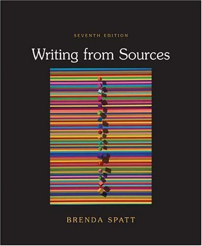 Writing from Sources  7th 2007 9780312437978 Front Cover