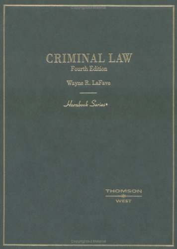 Criminal Law  4th 2003 (Revised) edition cover