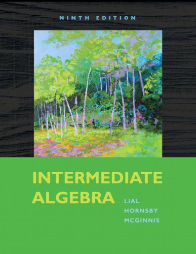 Intermediate Algebra  9th 2010 9780321574978 Front Cover