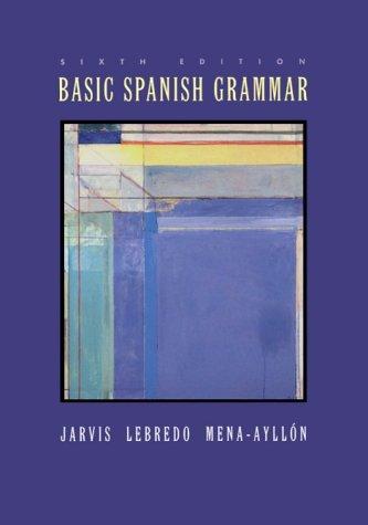 Basic Spanish Grammar  6th 2000 edition cover