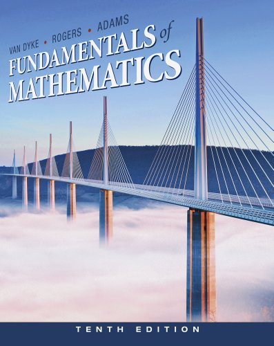 Fundamentals of Mathematics  10th 2012 (Revised) 9780538497978 Front Cover