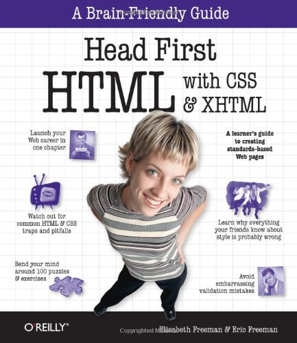 Head First HTML with CSS and XHTML   2005 edition cover