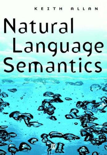 Natural Language Semantics   2001 edition cover