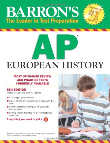 Barron's AP European History, 6th Edition  6th 2012 (Revised) edition cover