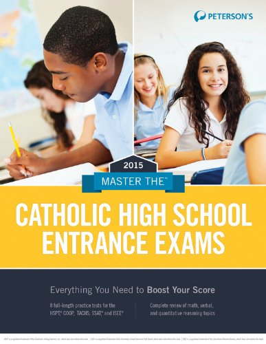 Master the Catholic High School Entrance Exams 2015  20th edition cover