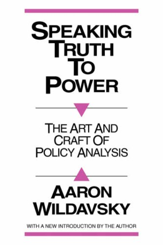 Speaking Truth to Power  2nd 1987 edition cover