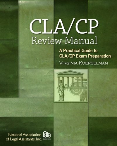 Certified Paralegal Review Manual A Practical Guide to CP Exam Preparation 3rd 2011 (Guide (Instructor's)) edition cover