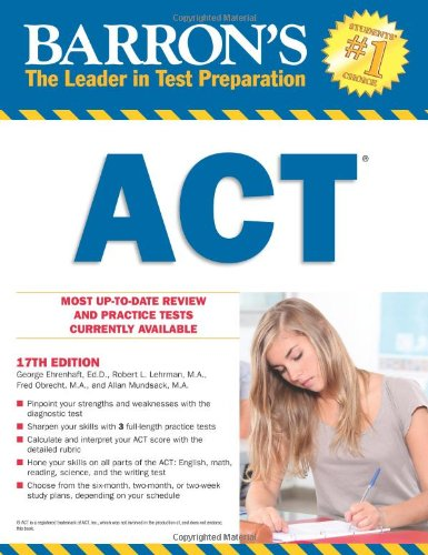 Barron's ACT, 17th Edition  17th 2012 (Revised) edition cover