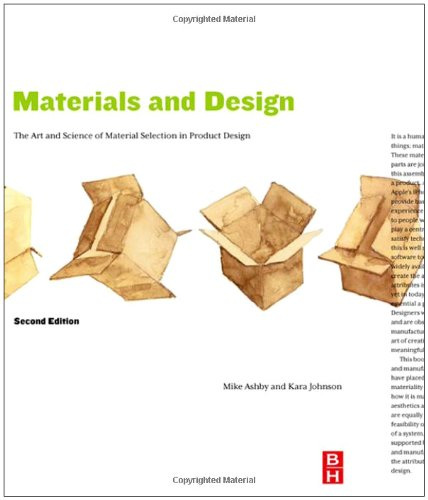 Materials and Design The Art and Science of Material Selection in Product Design 2nd 2009 edition cover