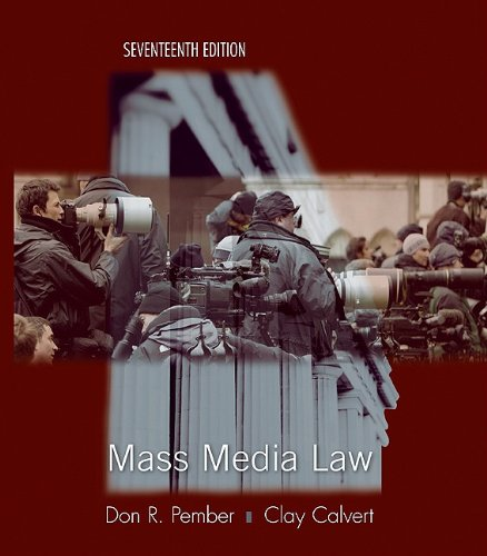 Mass Media Law  17th 2011 edition cover